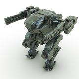 3d rendered mech isolated background Royalty Free Stock Images