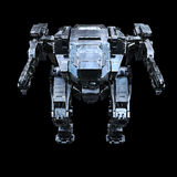 3d rendered mech isolated background Stock Photography