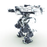3d rendered mech isolated background Royalty Free Stock Photos
