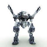 3d rendered mech isolated background Royalty Free Stock Photography