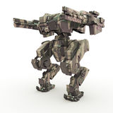 3d rendered mech isolated background Stock Images