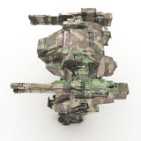 3d rendered mech isolated background. High quality 3d render of battle robot Royalty Free Stock Image