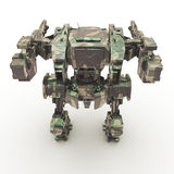3d rendered mech isolated background Royalty Free Stock Image