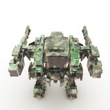 3d rendered mech isolated background Stock Photos