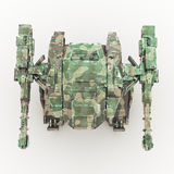 3d rendered mech isolated background. High quality 3d render of battle robot Royalty Free Stock Photography