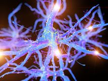 An active nerve cell. 3d rendered, medically accurate illustration of an active nerve cell royalty free illustration
