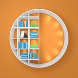 3d rendered modern bookshelf Royalty Free Stock Photo