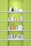 3d rendered modern bookshelf Stock Photos
