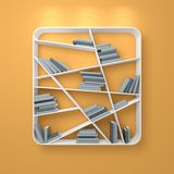 3d rendered modern bookshelf Stock Photos