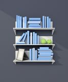 3d rendered modern bookshelf Stock Photography