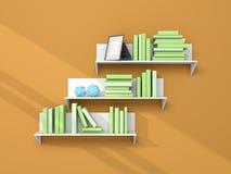 3d rendered modern bookshelf Royalty Free Stock Images