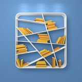 3d rendered modern bookshelf Royalty Free Stock Images