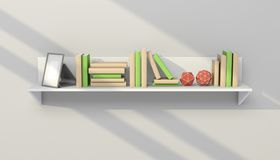 3d rendered modern bookshelf Stock Photography
