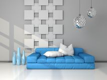 3d rendered modern interior Royalty Free Stock Photography