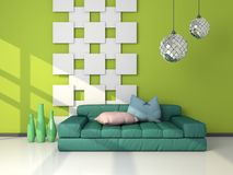 3d rendered modern interior Stock Image