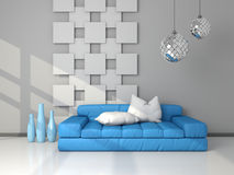 3d rendered modern interior Royalty Free Stock Photos