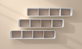3d rendered modern shelves Royalty Free Stock Image