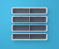 3d rendered modern shelves Royalty Free Stock Photo