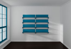 3d rendered modern shelves Royalty Free Stock Photos