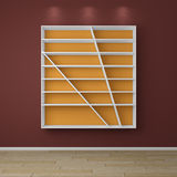 3d rendered modern shelves. Royalty Free Stock Photos