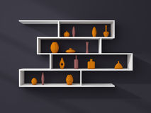 3d rendered modern shelves Stock Photo