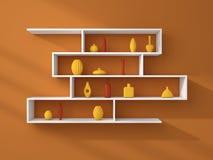 3d rendered modern shelves Stock Image