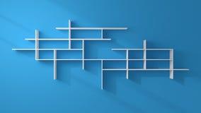 3d rendered modern shelves. Stock Photos