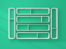 3d rendered modern shelves. Royalty Free Stock Image