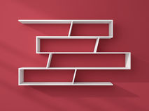 3d rendered modern shelves. Stock Image