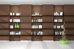 3d rendered modern shelves Royalty Free Stock Images