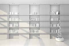 3d rendered modern shelves Royalty Free Stock Image