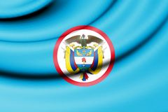 Naval Jack of Colombia. 3d Rendered Naval Jack of Colombia Royalty Free Stock Image