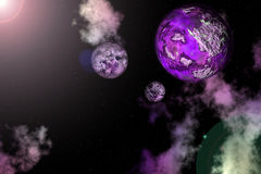 3D rendered nebula universe Royalty Free Stock Photos