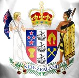 New Zealand Coat of Arms. Stock Photo