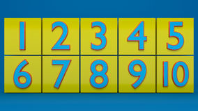 3d rendered numbers. In yellow blocks Royalty Free Stock Photos