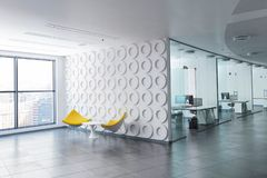 3D rendered office space stock photography