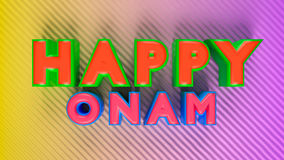 3d rendered onam greetings. 3d rendered colourful happy onam greetings stock illustration