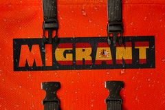 3D rendered idea for migrants crossing the Mediterranean and gaining access into Spain. vector illustration