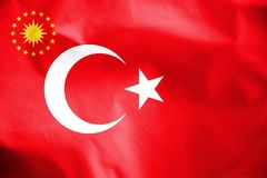 Presidential Standard of Turkey. Stock Photography
