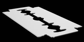 Isolate Razor Blade on a Seamless and Slight Reflective Surface. 3d rendered razor blade on a seamless reflective black surface for easy compositing vector illustration