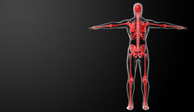 3d rendered red skeleton Royalty Free Stock Photography