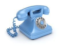 3d rendered retro telephone Stock Photography
