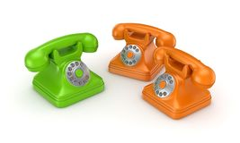 3d rendered retro telephone Stock Image