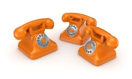 3d rendered retro telephone Royalty Free Stock Photo