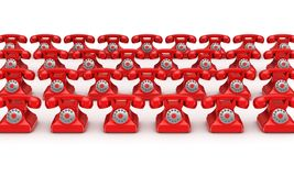 3d rendered retro telephone Royalty Free Stock Images