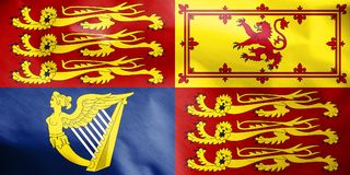 Royal Standard of the United Kingdom. Royalty Free Stock Image