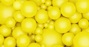 Yellow balls bubble 3d render background for poster flyer background, social media content template vector illustration