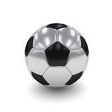 3d rendered silver soccer ball  over white Royalty Free Stock Images