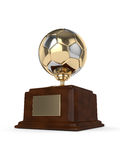 3d rendered soccer ball trophy isolated on white Stock Image