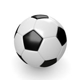 3d rendered soccer ball  on white Royalty Free Stock Photos